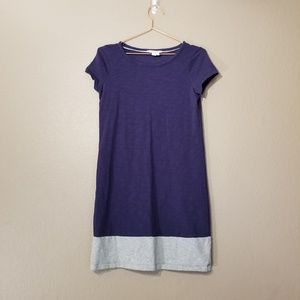 Boden Grey and Blue Blue T-Shirt Dress